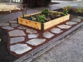 Veggie Bed and Flagstone
